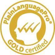 Plain Language Pro Gold Certified logo