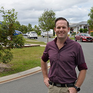 A photograph of Councillor Jon Raven, who is excited all Logan residents can now participate in Logan City Council's Habitat Connections program.